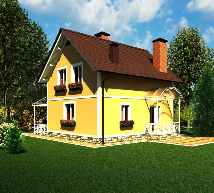 House plan by AkvilonPro          RUTA          sq m Small mansard house    House plan by AkvilonPro          RUTA          sq m Small mansard house   House Plans   Pinterest   House plans  House and Html