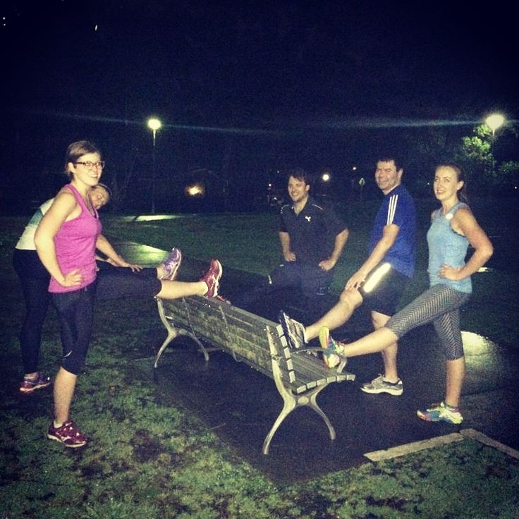 A core strengthening class with some friends