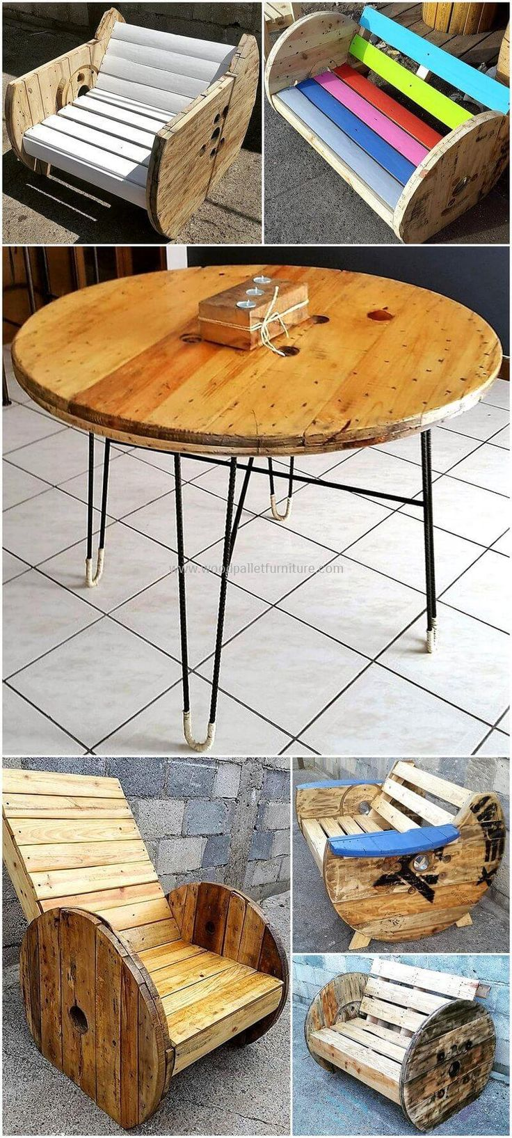 Insanely Smart Reclaimed Wood Pallet Projects. Cable ReelRecycled ...