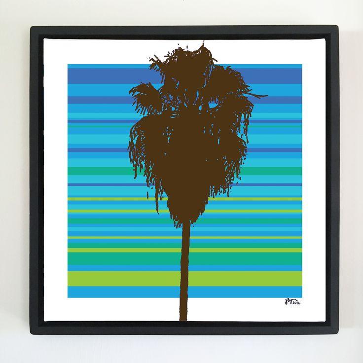 """Overflow series: """"CU Palm"""" art. 24 x 24 inch, digital art & gloss and matte gel on stretched canvas. 26.5 x 26.5 inch, float frame - black flat. ---------------------------------------- #popart #popartist #digitalart #art #artist #contemporaryart #colorfield #abstractart #gloss #matte #art #canvas #jonsavagegallery"""