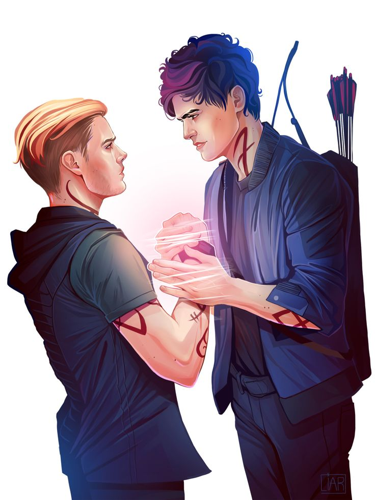 Parabatai ...  Drawn by DakotaLIAR   ...   the mortal instruments, jace herondale, alexander 'alec' lightwood, shadowhunters