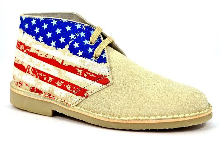 Scarpe Mod Clarks Desert Boot Camoscio Americana Rosso SAFARI NATURAL 2887 BEIGE