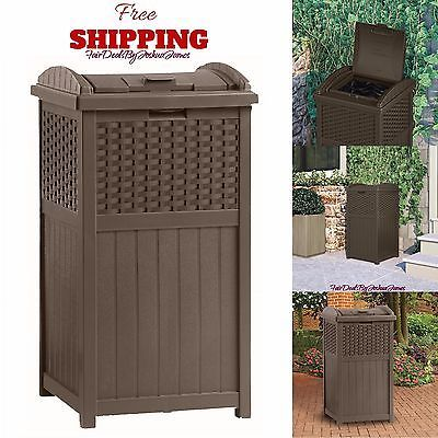 Wonderful Patio Trash Can with Outdoor Trash Patio Garden Garbage Waste Bin Can Basket Deck 30 - If you intend to buy furniture for your home, it's good to #1956