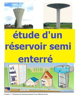 Exemple d'étude d'un réservoir semi enterré - PFE