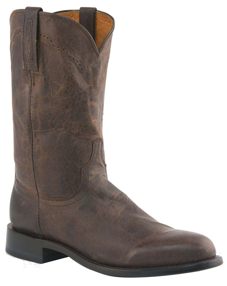 georgetowncowboyboots - Mens Lucchese Since 1883 Roper Boots Chocolate  Madras Goat M1018, $328.00 (http