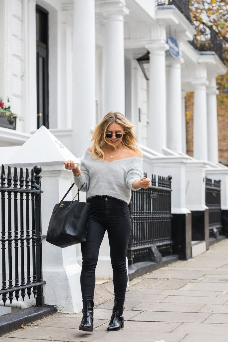 Street style in London, the Gucci swing bag, fluffy jumper and the best Topshop jeans