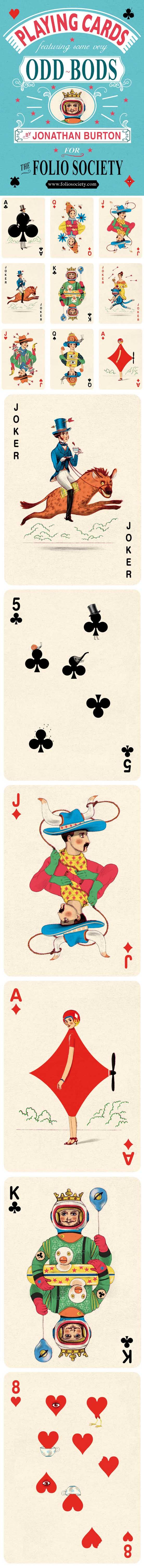 Jonathan Burton - playing card portraits - though i foresee lots of queen of hearts and ace of spades requests