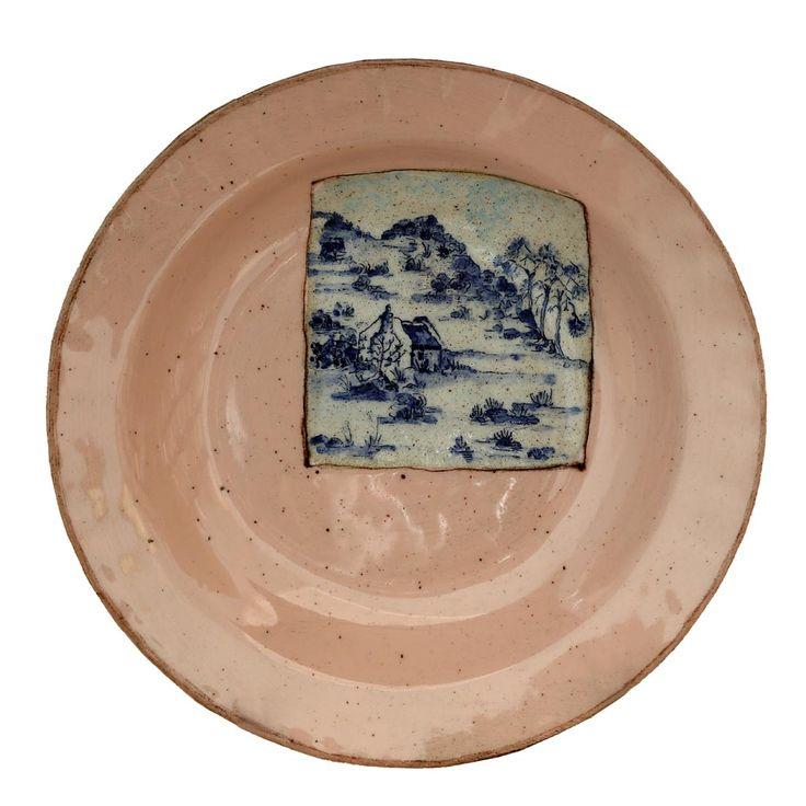 An original ceramic work by Lisa Ringwood entitled: 'Karoo Plate IV', ceramic, d 24cm For more please visit www.finearts.co.za #ceramic #LisaRingwood #Ceramicist #SouthAfricanArt #SouthAfricanArtist #ChineseCeramics #InteriorDesign #Decor #Decoration #Landscape #Fauna #Flora #Birdlife #VOCware #Karoo