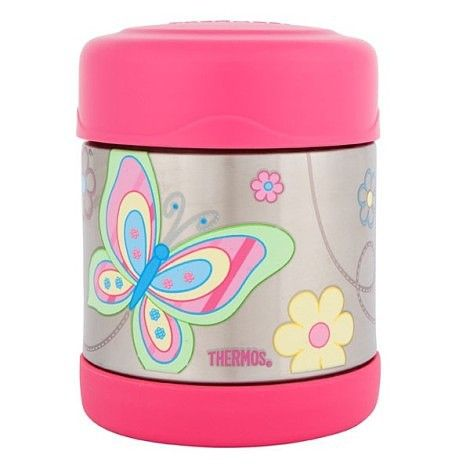 FUNtainer Food Jar - Butterfly- The very cute Thermos FUNtainer food jar in a stylish butterfly print, is so handy and will keep your food insulated for hours. With a wide opening, it is easy to fill, eat from and clean. It is fantastic for when you are on the go or for the kids to take to school. #bpafree #foodstoragecontainers #kidslunchboxes #thermos
