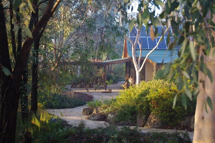 House view featuring Castlemaine slate paving, Autumn 2014