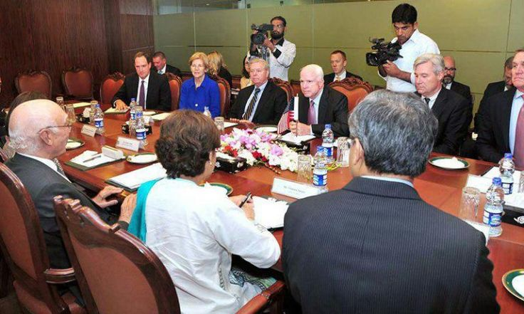 """US senators visit Islamabad after Pakistan's threat BlackHouse, Jul. 04 – """"There could be no peace in the region without Pakistan's cooperation,"""" said John McCain, Chairman of US Senate Committee on Armed Services, in his visit to Islamabad.  According to Reuters, John McCain has arrived in Islamabad accompaniedby four... http://blackhouse.info/us-senators-visit-islamabad-after-pakistans-threat/"""
