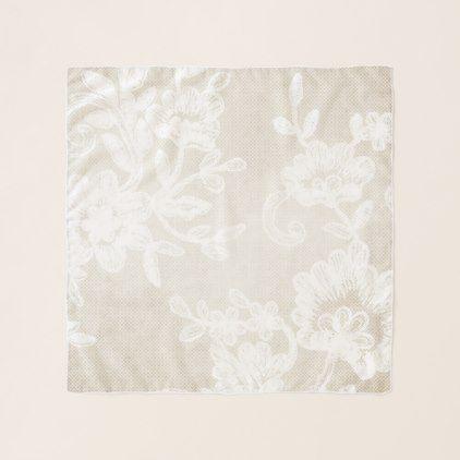 Stylish Ivory Flower Vintage Lace Chiffon Scarf - floral style flower flowers stylish diy personalize