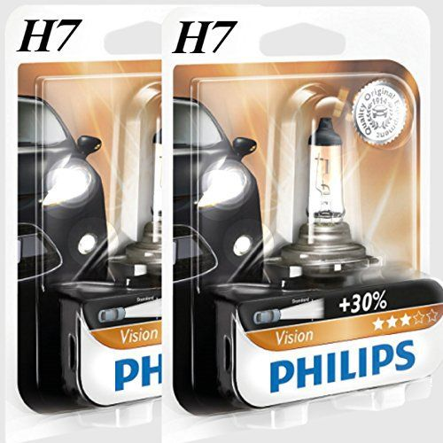 (Riya @) 2x H7Philips Vision 30% de lumière en plus Lampes halogènes Ampoules 12V 55W Lampe B1neuf: (Riya @) 2x H7ampoules halogènes…