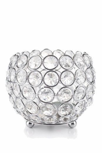 """Crystal Globe Blings Tealight Votive Candle Holders Wedding Centerpieces Lamp 4"""" #SIMCSHANDICRAFTS"""