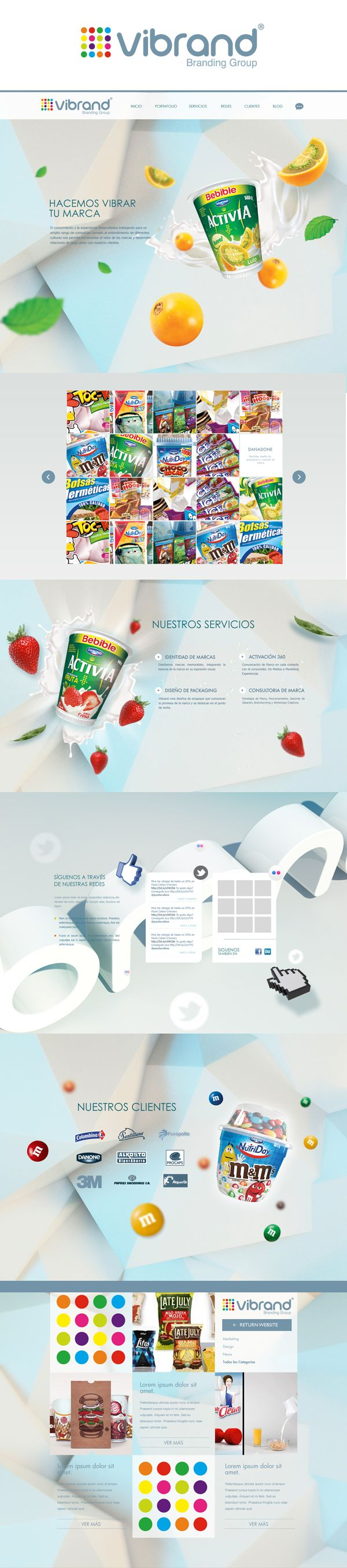 Vibrand Website - Branding Group by Andres Rodriguez, via Behance please visit this website at. www.vibrand.com.co