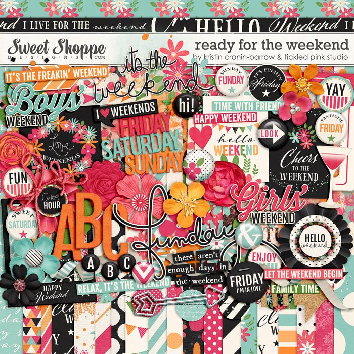 Ready for the Weekend by Kristin Cronin-Barrow & Tickled Pink Studio