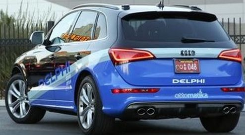 Delphi completes first coast-to-coast automated drive | A self-driving car equipped by GM spinoff Delphi Automotive completed a historic, 3,500-mile journey across the U.S. from San Franscisco to New York.