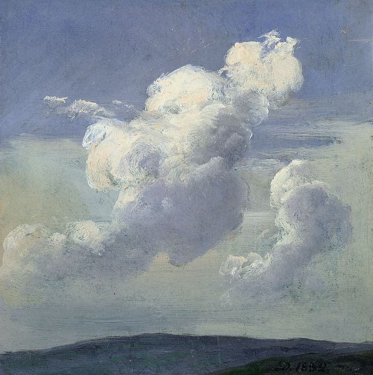 birdsong217:  Johan Christian Dahl (Norwegian, 1788-1857)Cloud Study, 1832. Oil on paper mounted on cardboard.