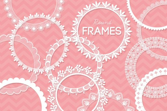 Check out 12 Round Lace Frames Clip Art I by AzmariDigitals on Creative Market