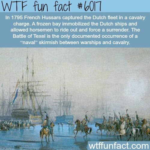 The time that French men on horses captured the Dutch fleet - WTF fun facts