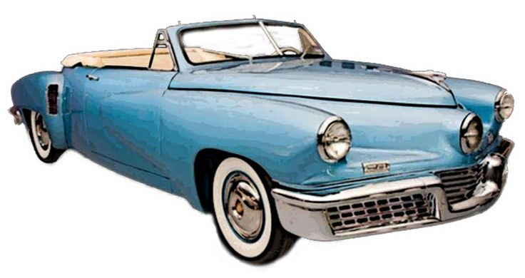 Tucker Convertible Posterized Classic Car Png Vehicle