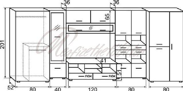 Big-Song szekrénysor - 114,872Ft : Bútor országos házhozszállítással - Megfizethetőbútor