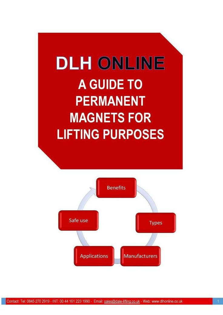 A guide to permanent magnets for lifting purposes includes information on how they work, pros and cons and models available