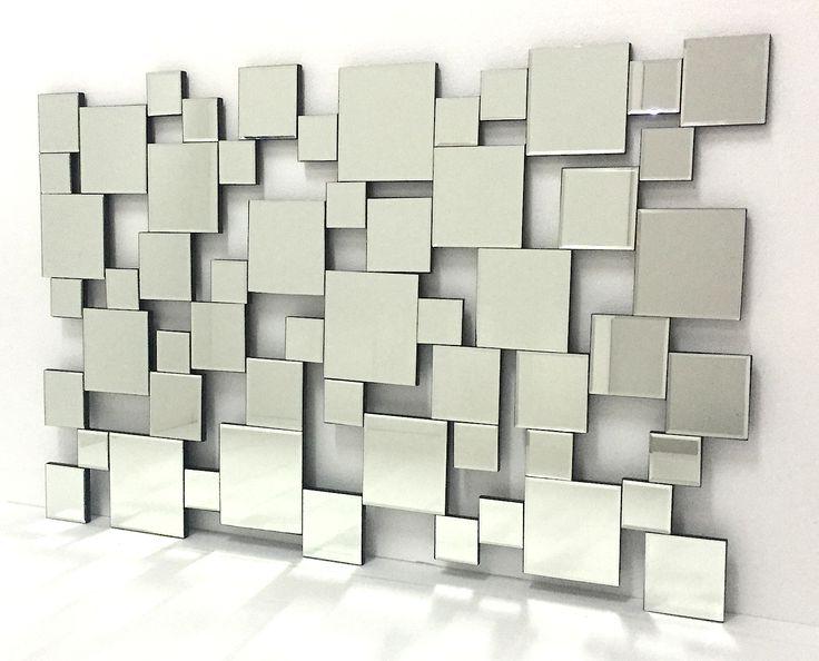espejo moderno rectangular irregular xcm