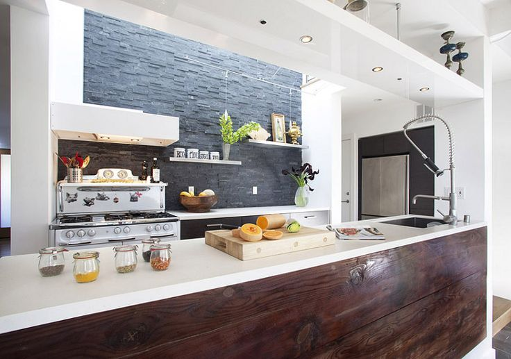 Wood and stone: Kitchens Design, Rustic Charms, Feldman Architecture, Kitchens Ideas, Kitchens Islands, Old Houses, Home Architecture, Modern Kitchens, San Francisco