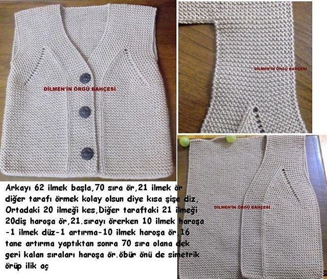 #baby #vest #pattern #knitting #handmade #örgü #yelek #anlatım 🎀