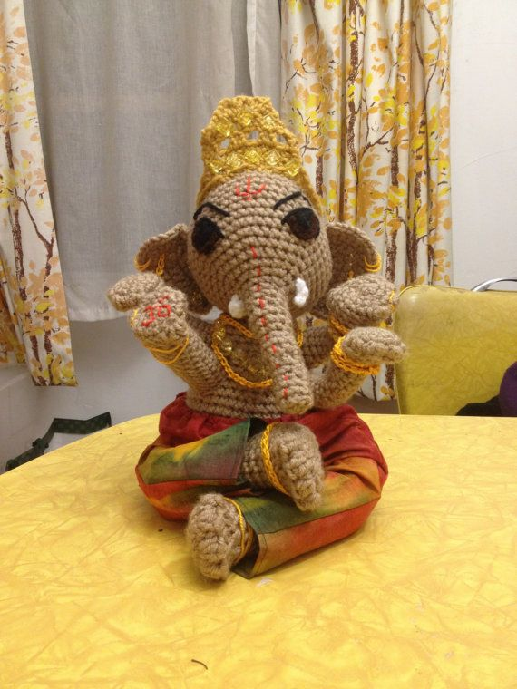 ganesh crochet, handmade, and awesome on Etsy, $120.00