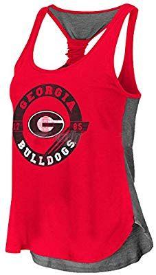 Amazon.com   Georgia Bulldogs Halo Twist Ladies Tank Top-small   Sports    Outdoors 2574d0e5f