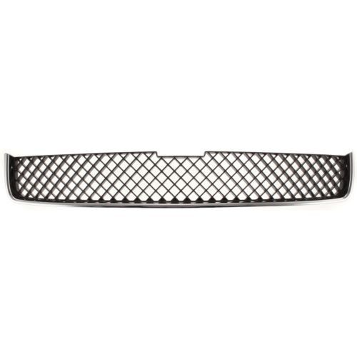 2005-2009 Chevy Uplander Grille, Upper, Chrome Shell/ Dark Gray Insert