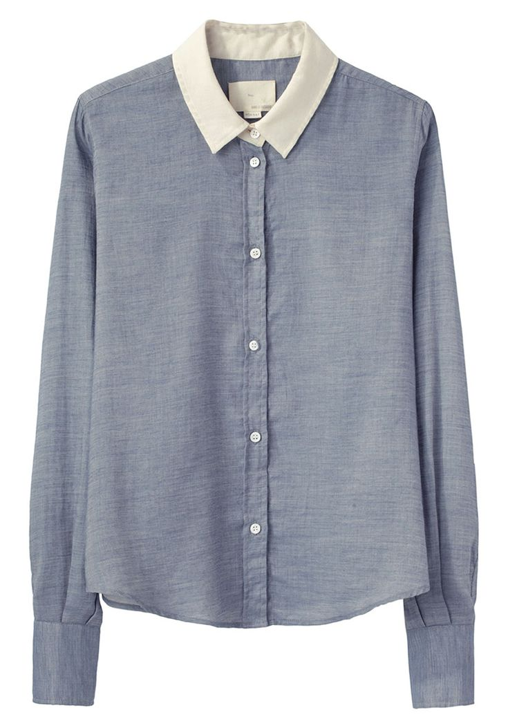 (boy by band of outsiders | contrast collar shirt) contrasts are in this season. like the contrast between the current level of my finances, and how much I want this shirt