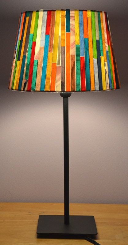 Glass mosaic lamp shade stained