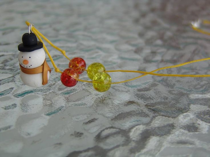 polymer clay snowman https://www.facebook.com/ClayMiniGifts/
