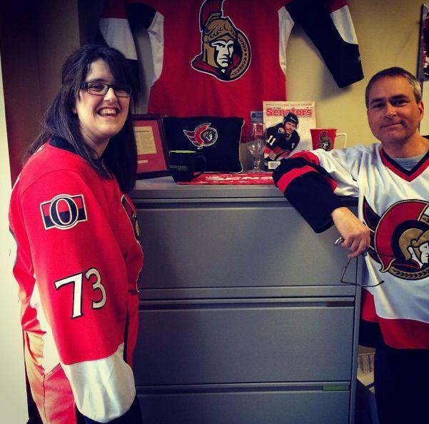 Reppin' our Sens pride today! #sensarmy #OttawaSenators