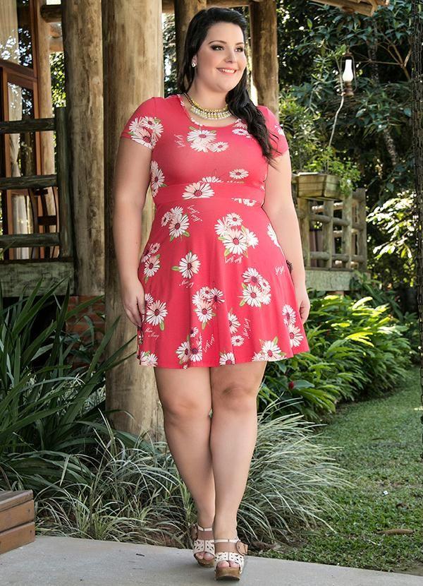 Vestido Floral Rosa Miss Masy Plus - BGO Company