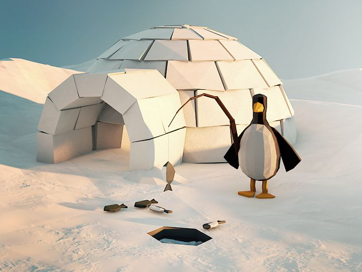 Low Poly Igloo by Runar Finanger