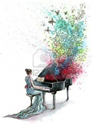 grand piano music (series C) Stock Photo