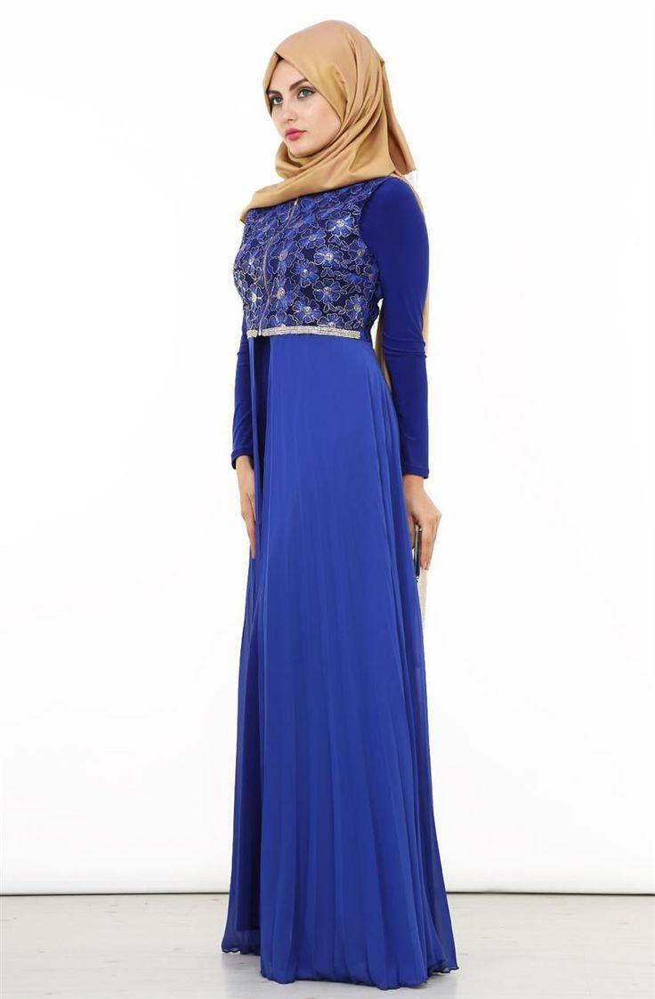 Lady Nur Pilisoley Detaylı Abiye Elbise-Saks 9011-47
