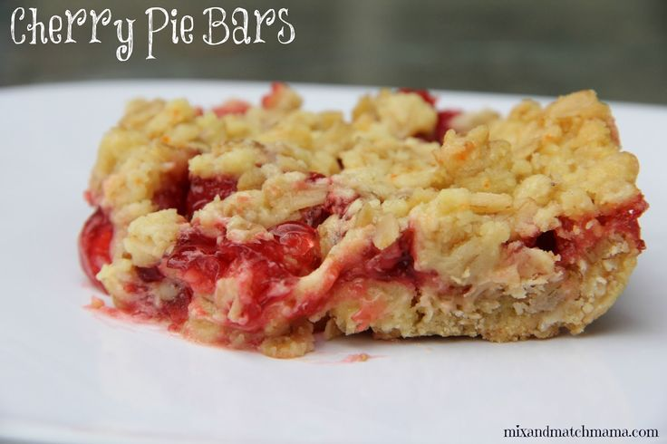 Cherry Pie Bars   Dessert   Pinterest   Cherry pie bars ...