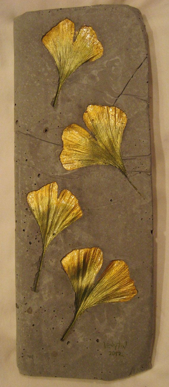 Concrete Leaf Casting Wall Plaque by ConcreteImpre…