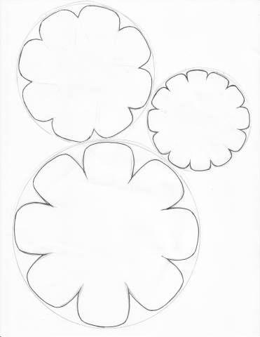 141 best DIY Flower Templates images on Pinterest Fabric flowers - flower template