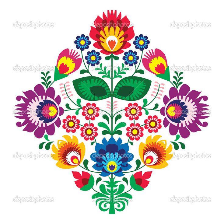 depositphotos_22736287-Folk-embroidery-with-flowers---traditional-polish-pattern.jpg (1024×1024)