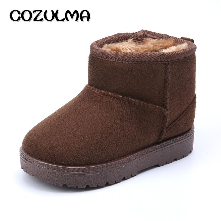 COZULMA Children Winter Shoes Thicker Kids Snow Boots with Plush Fur Boys Girls Winter Snow Boots Baby Kids Winter Cotton Shoes #Affiliate