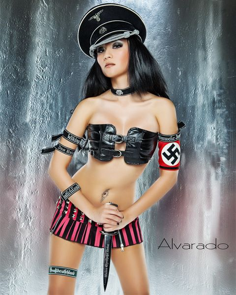 Nazi Pin Up C By Hihosteverino Deviantart Com On