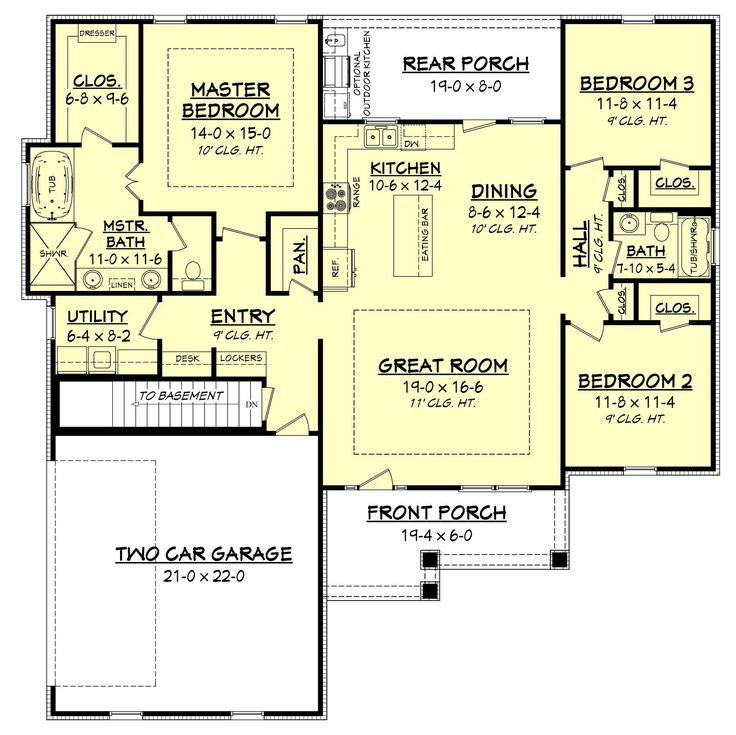 25 best ideas about cottage house plans on pinterest for Open concept craftsman house plans