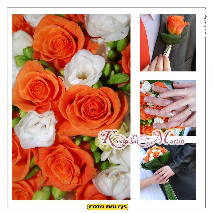 Květa a Martin, svatební květiny