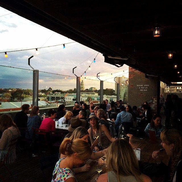 Roof top bar #nakedinthesky . Best Melbourne bar so far . Fitzroy.